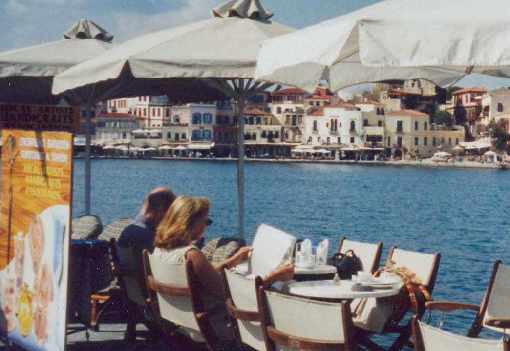 Seaside restaurant in the Bay of Chania